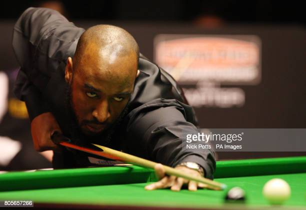 Rory McLeod on the table during his 1st round match against Ali Carter during the Pukka Pies UK Championship at Telford International Centre Telford
