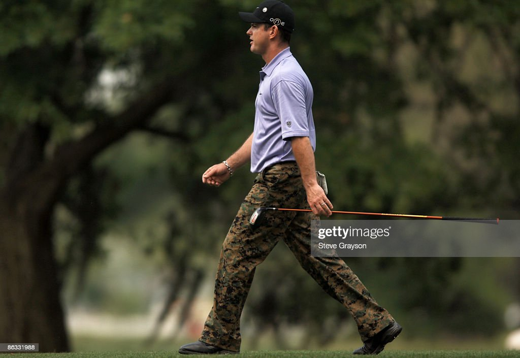 Rory Sabatini strolls past the 15th tee during the first round of the 2005 Shell Houston Open at the Redstone Golf Club in Houston Texas April 21 2005