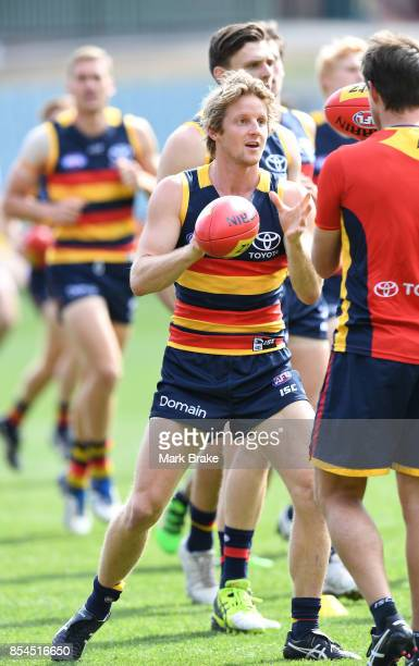 Rory Sloane during an Adelaide Crows AFL Grand Final training session at Adelaide Oval on September 27 2017 in Adelaide Australia