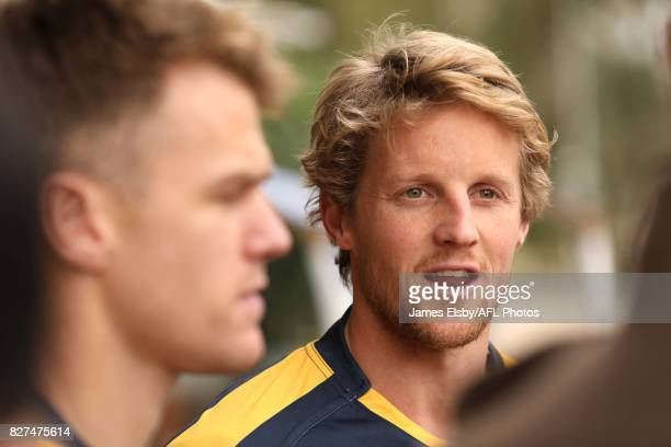 Rory Sloane of the Crows during the media conference to confirm match dates in Adelaide and Perth respectively for the twotest Virgin Australia...