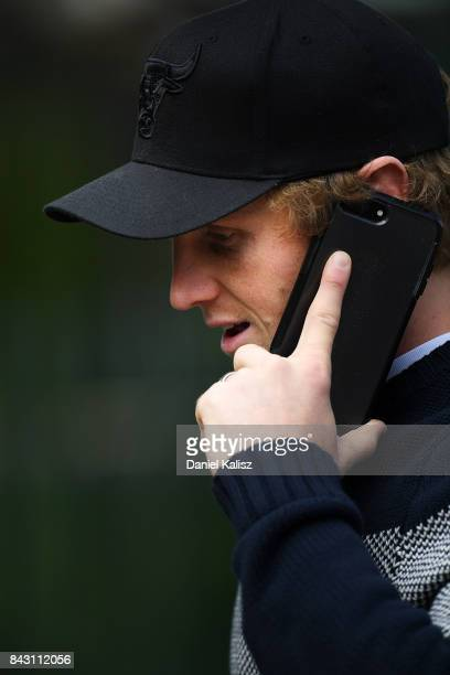 Rory Sloane of the Crows walks from Adelaide Oval after an Adelaide Crows training session at Adelaide Oval on September 6 2017 in Adelaide Australia