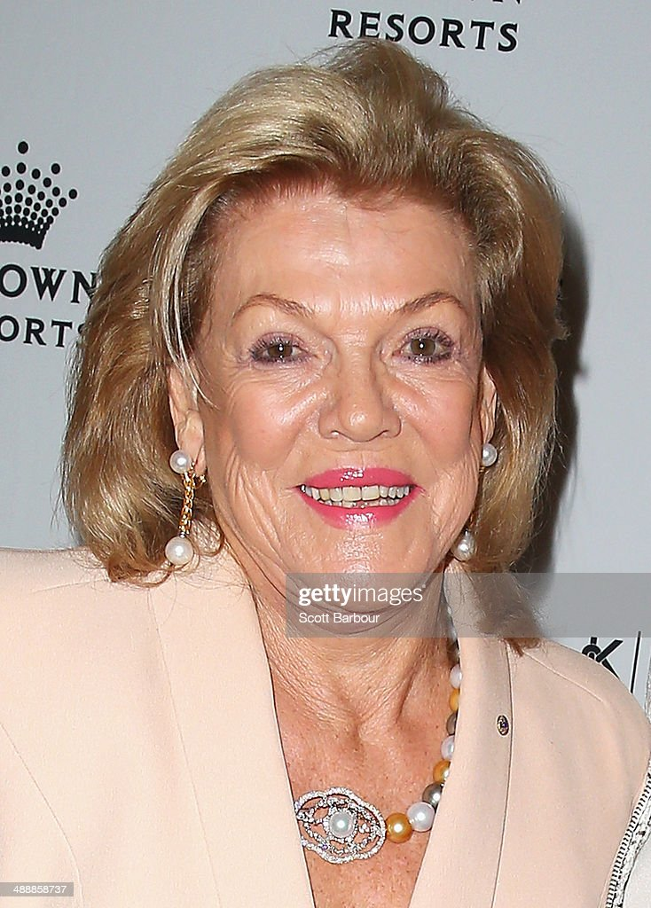 <a gi-track='captionPersonalityLinkClicked' href=/galleries/search?phrase=Ros+Packer&family=editorial&specificpeople=218021 ng-click='$event.stopPropagation()'>Ros Packer</a> arrives at Crown's Celebrity Mother's Day Luncheon at Crown on May 9, 2014 in Melbourne, Australia.