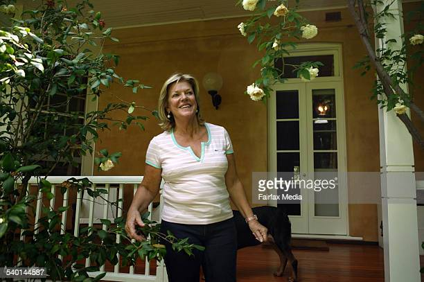 Ros Packer on the veranda of her property and gardens in Ellerston in the New South Wales Hunter Valley 23 January 2007 AFR Picture by TAMARA VONINSKI