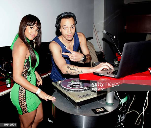 Rosa Acosta and DJ Timbuck2 at the Heineken Red Star Access Presents GOOD Music Event on July 18 2011 in Houston Texas