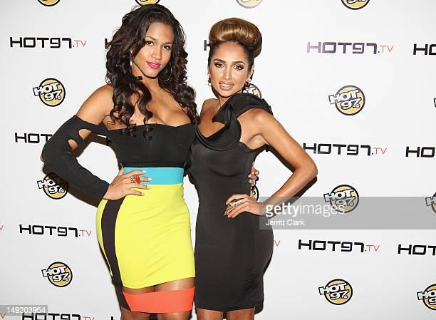 Rosa Acosta and Shakur Sozahdah attends the Hot 97 TV 'Los Blancos' Premiere at Villa Pacri on July 24 2012 in New York City