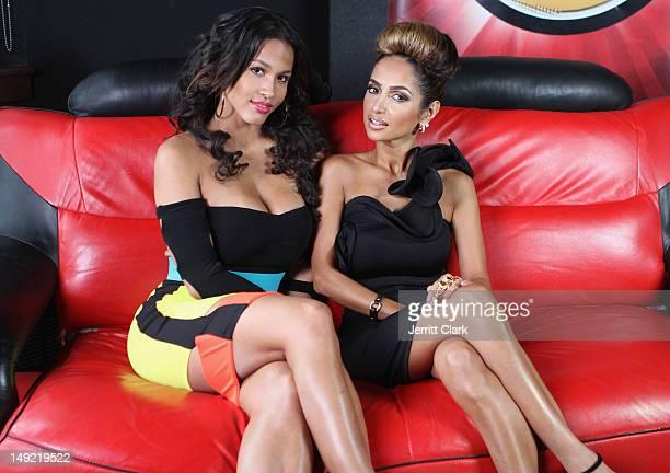 Rosa Acosta and Shakur Sozahdah visit the Hot 97 Studio on July 24 2012 in New York City