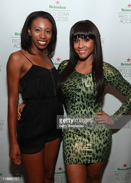 Rosa Acosta hosts the GOOD Music event presented by Heineken Red Star Access featuring Cyhi Da Prynce And Pusha T at The Shrine on July 27 2011 in...