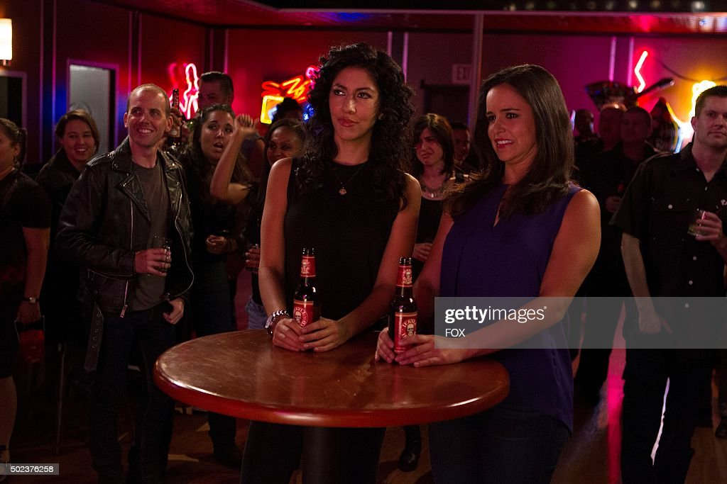 Rosa and Amy in the 'The Oolong Slayer' episode of BROOKLYN NINENINE airing Sunday Oct 18 on FOX