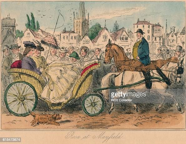 Rosa at Mayfield' 1860 From Plain or Ringlets by Robert Smith Surtees [Bradbury and Evans London 1860] Artist John Leech