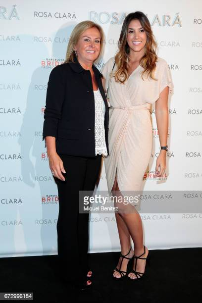 Rosa Clara and Daniela Ospina pose during a photocall for the Rosa Clara Show during Barcelona Bridal Fashion Week 2017 on April 25 2017 in Barcelona...