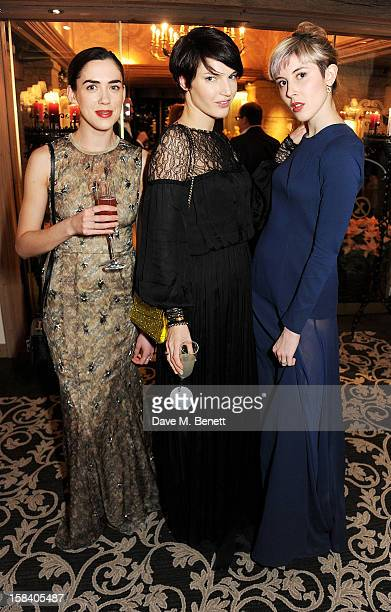 Rosa Connell Ben Grimes and Paula Goldstein attend the ASMALLWORLD Gala Dinner for the Alzheimer's Society at The Gstaad Palace Hotel on December 15...