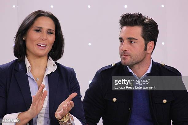 Rosa Lopez and David Bustamante attend the presentation of the musical talent show 'HitLa Cancion' on December 18 2014 in Madrid Spain