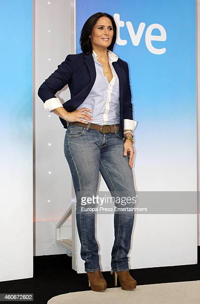 Rosa Lopez attends the presentation of the musical talent show 'HitLa Cancion' on December 18 2014 in Madrid Spain