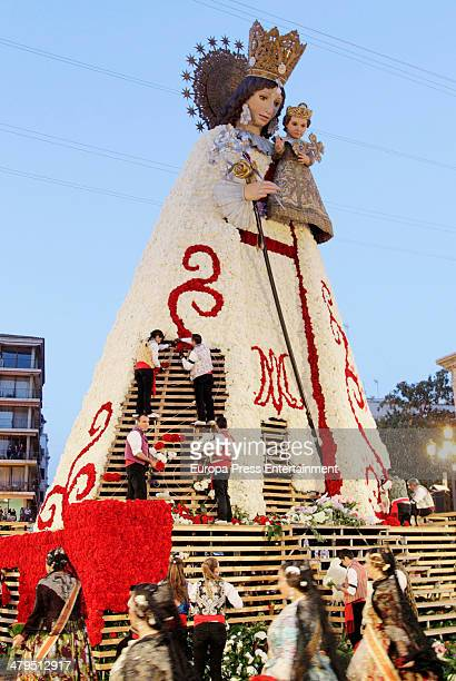 Rosa Lopez is seen dressed up like 'Fallera' during Fallas Festival on March 18 2014 in Valencia Spain