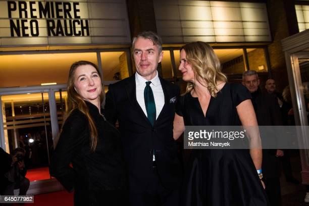 Rosa Loy Neo Rauch and director Nicola Graef attend the 'Neo Rauch Gefaehrten und Begleiter' premiere at Kino International on February 24 2017 in...