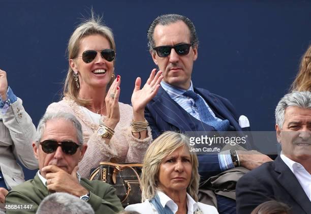 Rosa Mairal and Jaime de Marichalar attend the ATP Tour Open Banc Sabadell Barcelona 2014 62nd Trofeo Conde de Godo at Real Club de Tenis Barcelona...