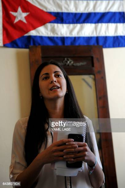 Rosa Maria Paya daughter of late Cuban dissident Oswaldo Paya who organized a ceremony to confer a prize named for her father to the head of the...