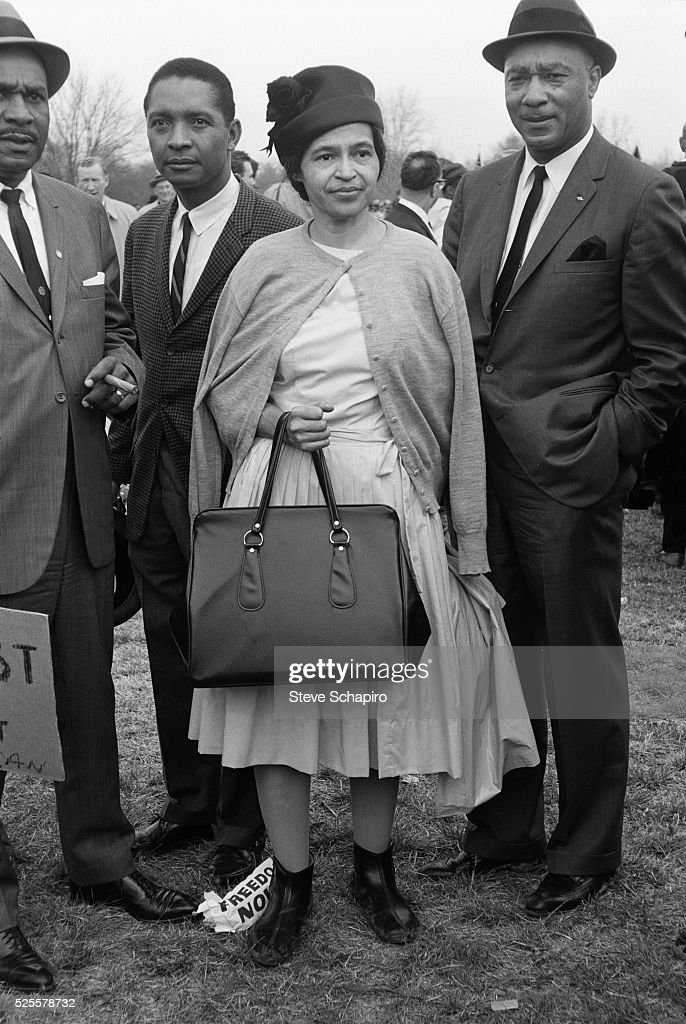 Rosa Parks at the Selma to Montgomery Civil Rights Marches. The Selma to Montgomery Civil Rights Marches occurred in 1965, and were marked by violent attacks on the marchers by state and local police.