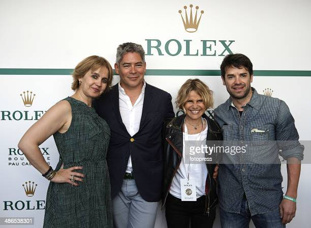Rosa Tous Boris Izaguirre Eugenia Martinez de Irujo and Carlos Checa attend day fourth of the ATP Barcelona Open Banc Sabadell at the Real Club de...