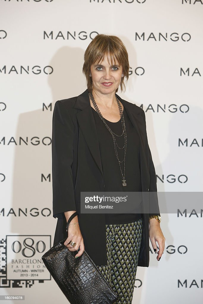 Rosa Tous Oriol attends the photocall at the Mango fashion show as part of the 080 Barcelona Fashion Week Autumn/Winter 2013-2014 on January 28, 2013 in Barcelona, Spain.