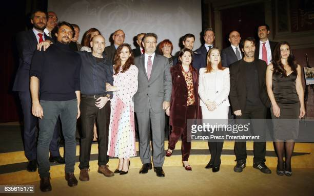 Rosa Villacastin President of the Congress Ana Pastor Minister of Justice Rafael Catala actress Irene Escolar and actor Daniel Holguin attend the 'La...