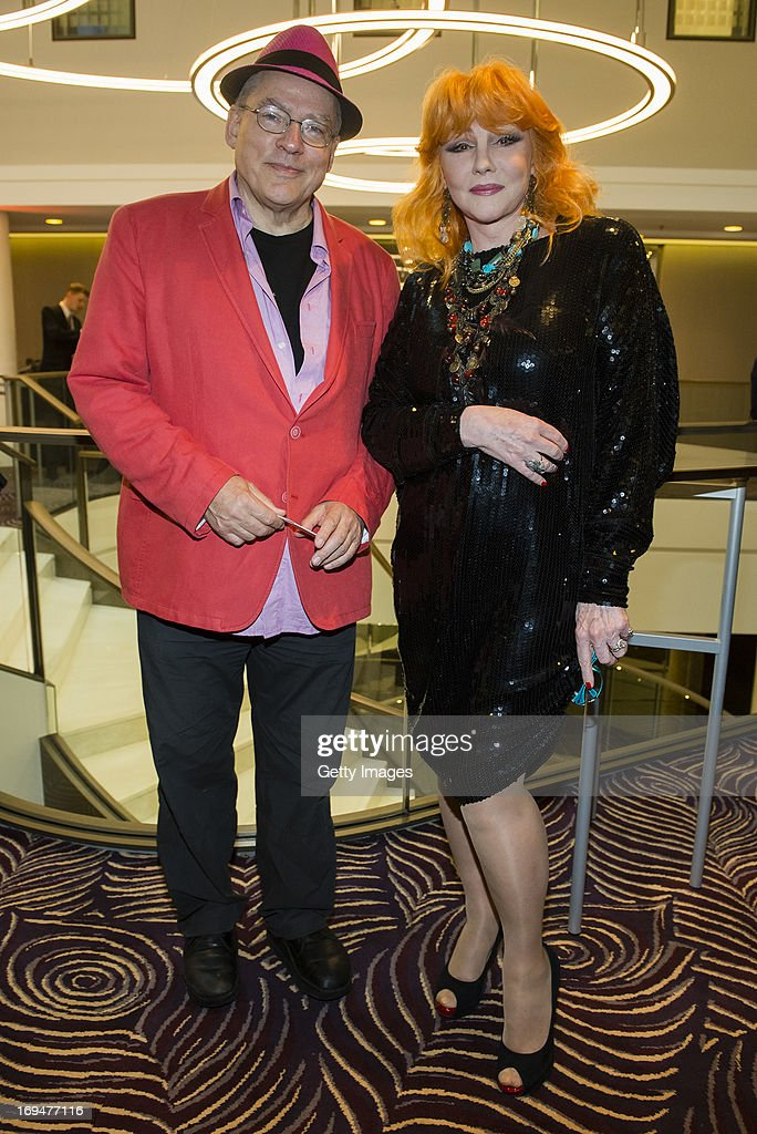 Rosa von Praunheim (L) and Romy Haag attend the 1st Charity Dinner by Federal Trust Fund Magnus Hirschfeld at Waldorf Astoria on May 25, 2013 in Berlin, Germany.