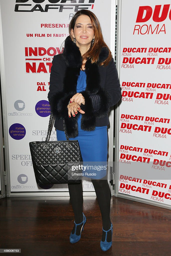 Rosalia Porcaro attends the 'Indovina Chi Viene A Natale' party at Ducati Caffe on December 19, 2013 in Rome, Italy.