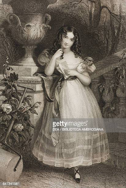 Rosalie character in the homonymous poem by the Countess of Blessington illustration from Gallery of Graces with illustrations from Heath's Book of...