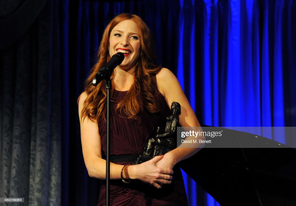 Rosalie Craig accepts the Best Musical Performance award at the 59th London Evening Standard Theatre Awards at The Savoy Hotel on November 17, 2013 in London, England.