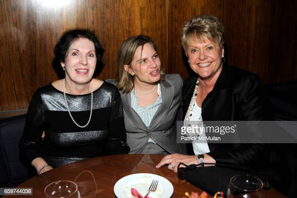 Rosalie Gisolfi guest and Loretta Anderson attend PARADE MAGAZINE and SI Newhouse Jr honor Walter Anderson at The 4 Seasons Grill Room on March 31...