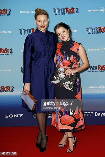 Rosalie Thomass and Jella Haase attend the Ritter Rost 2 Das Schrottkomplott Premiere at Mathaeser Filmpalast on January 15 2017 in Munich Germany
