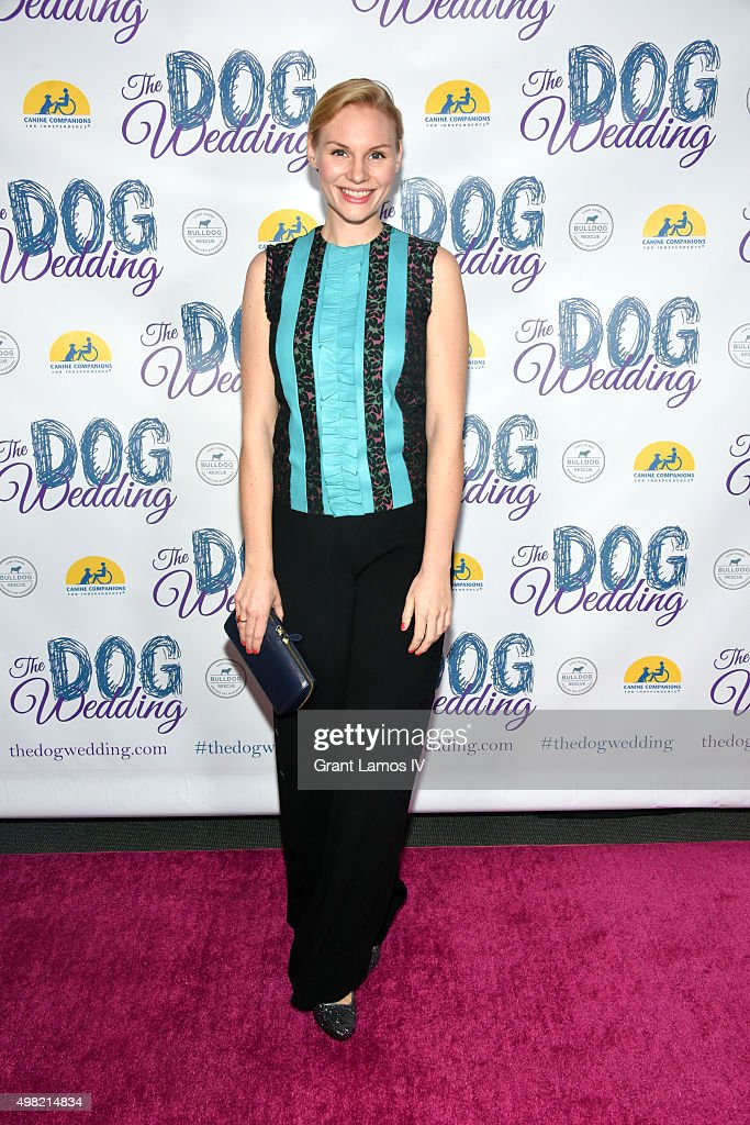 Rosalie Thomass attends 'The Dog Wedding' premiere at NYIT Auditorium on Broadway on November 21, 2015 in New York City.