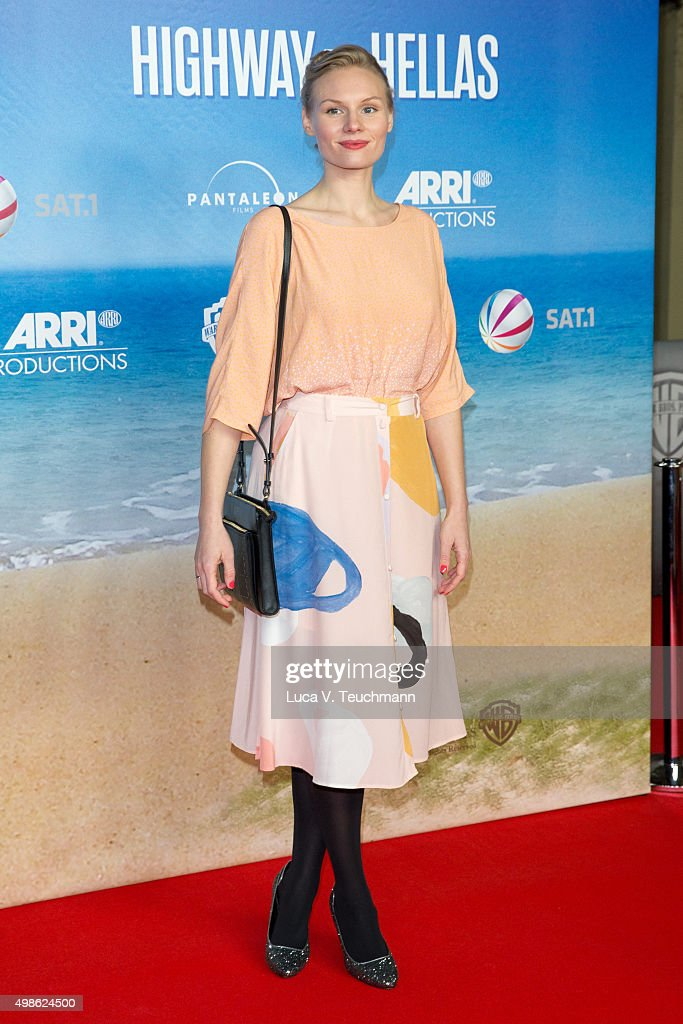 Rosalie Thomass attends the 'Highway to Hellas' German Premiere at Kino in der Kulturbrauerei on November 24 2015 in Berlin Germany