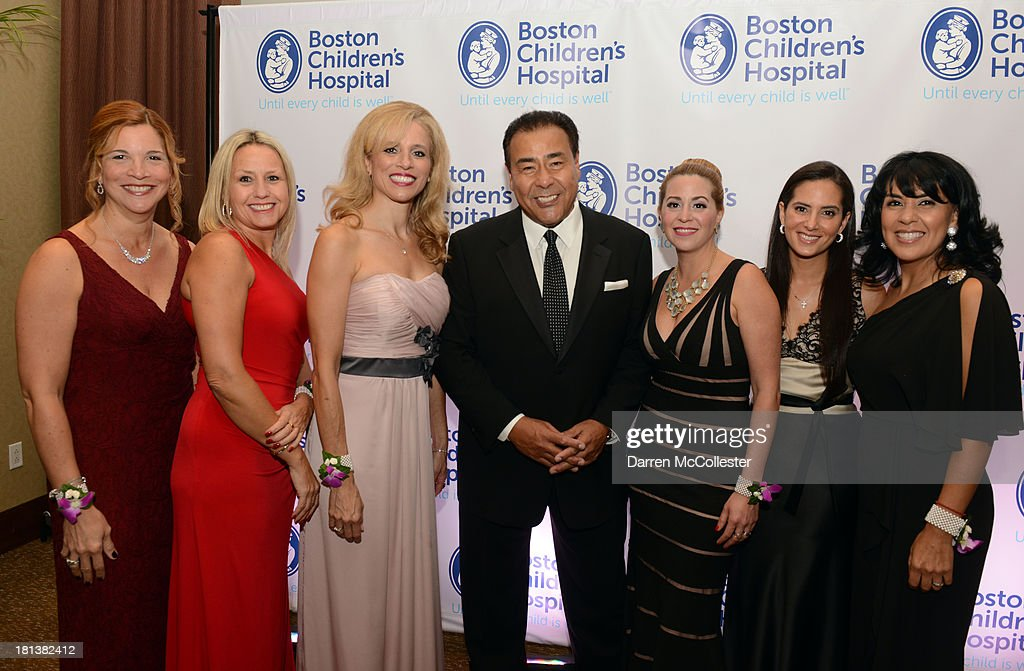 Rosalin Acosta, Carolina Alarco, Marcel Quiroga, John Quinones, Cristina Bozas, Monica Neuman and Alba Alvarez Cote attend the 4th annual Milagros para Ninos Gala benefitting Boston Children's Hospital at The Westin Boston Waterfront on September 20, 2013 in Boston, Massachusetts.