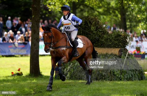 Rosalind Canter of Great Britain rides Zenshera during the CIC 4 star cross country at the Messmer Trophy on June 17 2017 in Luhmuhlen Germany
