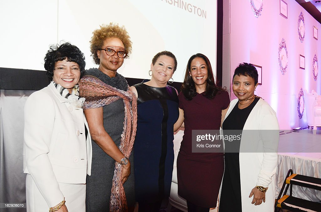 Rosalind Hudnell, Paula Madison, Debra Lee and Mona Sutphen pose for a phot during the Leading Women Defined: Our Power: A Global Perspective at Ritz Carlton Hotel on March 1, 2013 in Washington, DC.