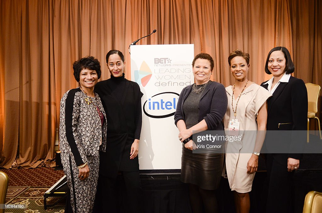 Rosalind Hudnell, Tracee Ellis Ross, Debra Lee, MC Lyte and Ellie Nieves pose for a photo during the Leading Women Defined: Intel Presents Developing Your Personal Brand Mentoring Session on February 28, 2013 in Washington, DC.