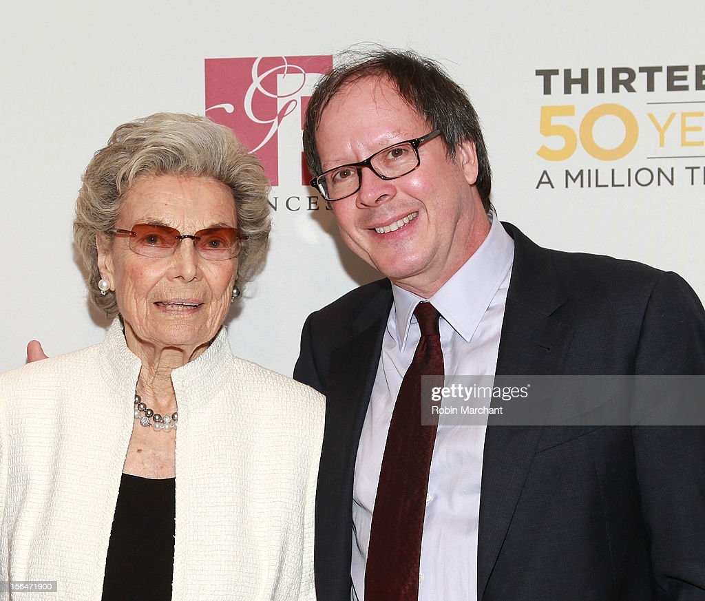 Rosalind P. Walter (L) and Ric Burns attend the THIRTEEN 50th Anniversary Gala Salute at David Koch Theatre at Lincoln Center on November 15, 2012 in New York City.