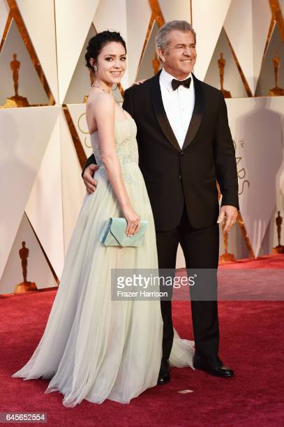 Rosalind Ross and actor/director Mel Gibson attend the 89th Annual Academy Awards at Hollywood Highland Center on February 26 2017 in Hollywood...