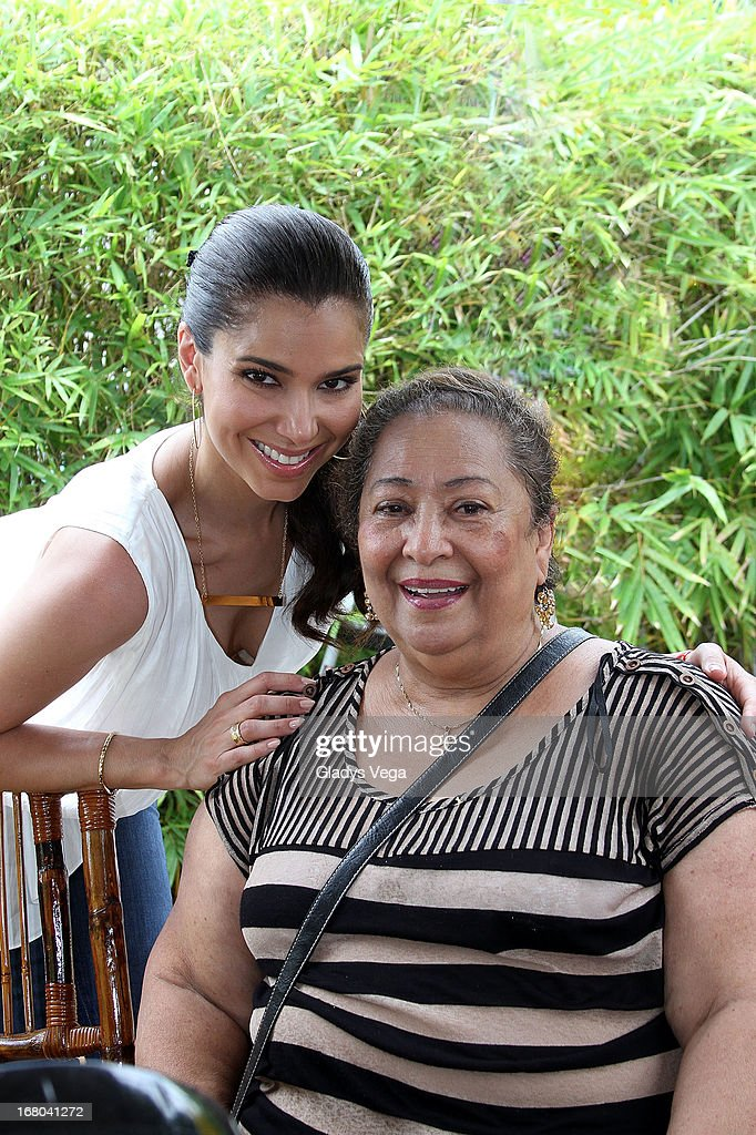 Rosalyn Sanchez with her mother Olga Rodriguez attend Pet SOS Food Drive at K Mart Plaza Las Americas on May 4, 2013 in San Juan, Puerto Rico.
