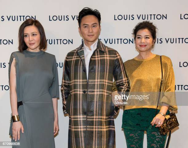 Rosamund Kwan Chilam Cheung and Cherie Chung attend the opening ceremony of Louis Vuitton flagship store on April 20 2017 in Hong Kong Hong Kong