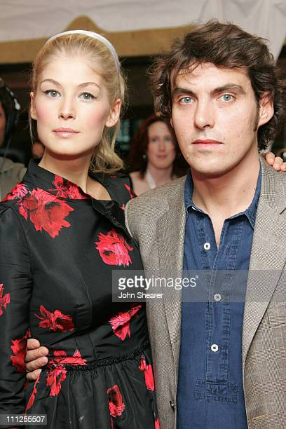 Rosamund Pike and Joe Wright director during 2005 Toronto Film Festival 'Pride and Prejudice' Premiere at Roy Thompson Hall in Toronto Canada