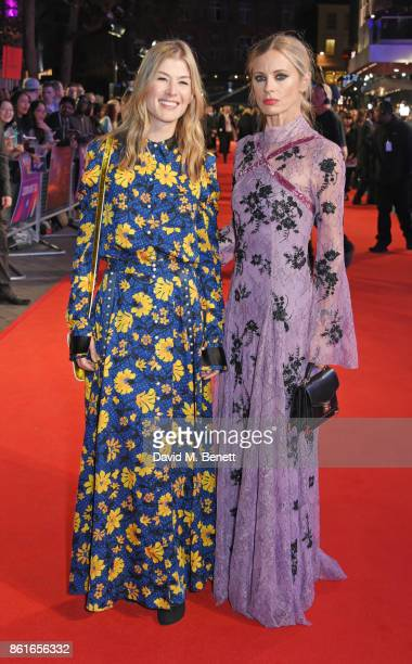 Rosamund Pike and Laura Bailey attend the UK Premiere of 'Three Billboards Outside Ebbing Missouri' at the closing night gala of the 61st BFI London...