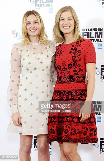 Rosamund Pike and Laura Carmichael attend the 'A United Kingdom' photocall during the 60th BFI London Film Festival at The Mayfair Hotel on October 5...