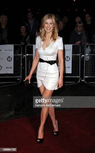 Rosamund Pike arrives at The 31st London Film Critics' Circle Awards at BFI Southbank on February 10 2011 in London England