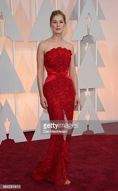 Rosamund Pike arrives at the 87th Annual Academy Awards at Hollywood Highland Center on February 22 2015 in Los Angeles California