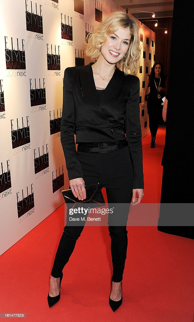 Rosamund Pike arrives at the Elle Style Awards at The Savoy Hotel on February 11, 2013 in London, England.