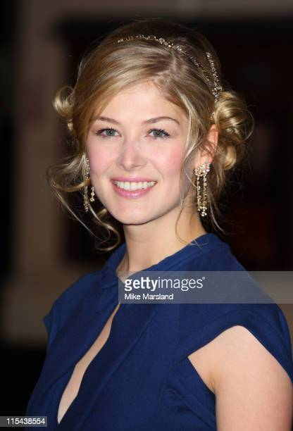 Rosamund Pike arrives at the Orange British Academy Film Awards 2008 held at the Royal Opera House on February 10 2008 in London England