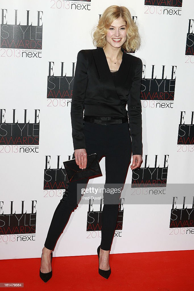 Rosamund Pike attends Elle Style Awards Outside Arrivals on February 11, 2013 in London, England.