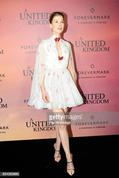Rosamund Pike attends Forevermark Presents the World Premiere of Fox Searchlight's 'A United Kingdom' at The Paris Theatre on February 6 2016 in New...